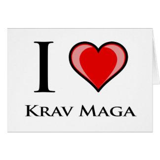 Cartão Eu amo Krav Maga