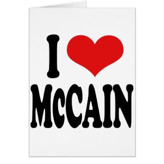 Cartão Eu amo McCain