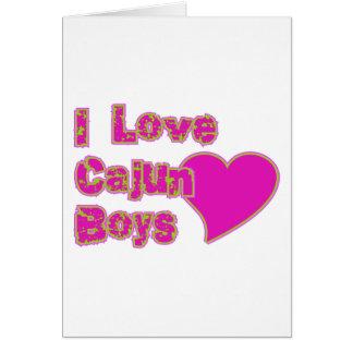 Cartão Eu amo meninos de Cajun