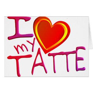 Cartão Eu amo meu Tatte