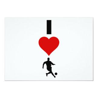 Cartão Eu amo o futebol (vertical)