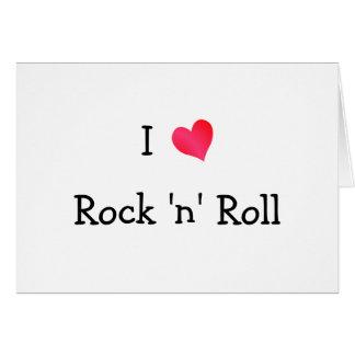 Cartão Eu amo o rock and roll