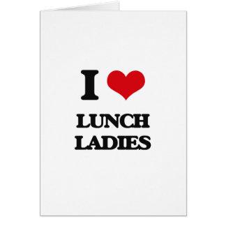 Cartão Eu amo senhoras do almoço