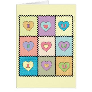 Cartão Eu-Amor-U-Edredão