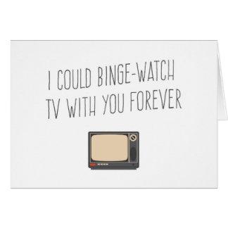 Cartão Eu poderia tevê do relógio do frenesi com seu para
