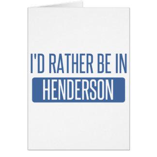 Cartão Eu preferencialmente estaria em Henderson