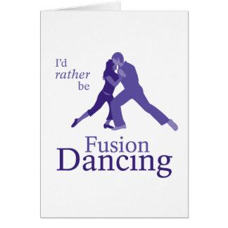 Cartão Eu preferencialmente seria dança da fusão