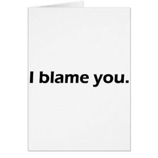 Cartão Eu responsabilizo-o