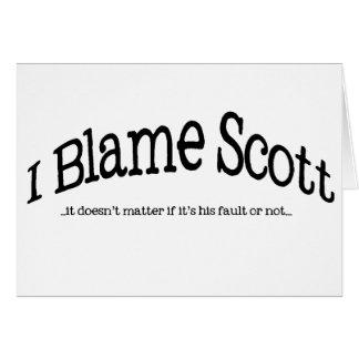 Cartão Eu responsabilizo Scott
