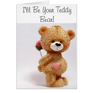 Cartão Eu serei seu urso de ursinho