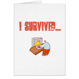 Cartão Eu sobrevivi ao bar do hospital