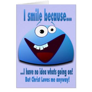 Cartão Eu sorrio porque… V2