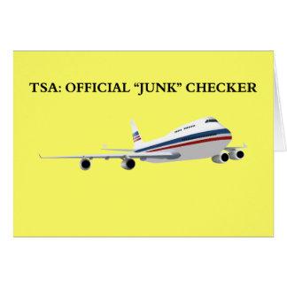 Cartão Eu sou o verificador oficial da sucata de TSAs