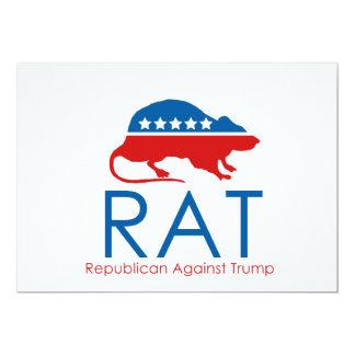 Cartão Eu sou um R.A.T: Republicano contra o trunfo