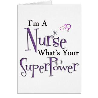 Cartão Eu sou uma enfermeira