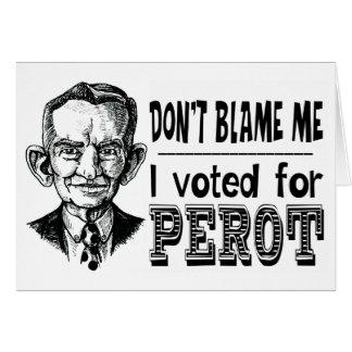 Cartão Eu votei para PEROT