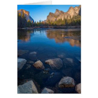 Cartão EUA, Califórnia. Opinião 2 do vale de Yosemite