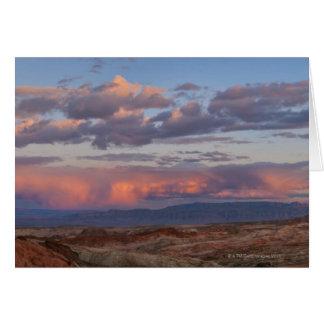 Cartão EUA, Nevada, vale do fogo no por do sol