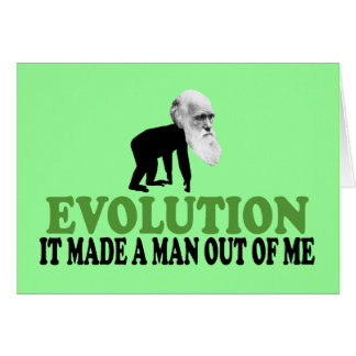 Cartão Evolução de Darwin