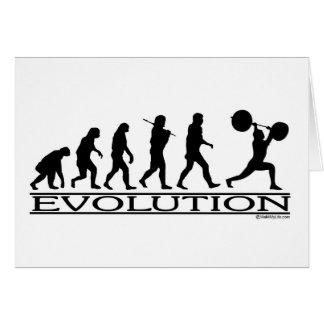 Cartão Evolução - elevador de peso