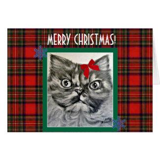 Cartão exótico de cabelos compridos do Feliz Natal