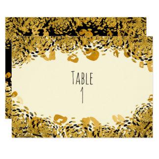 Cartão exótico do número do ouro & da mesa da