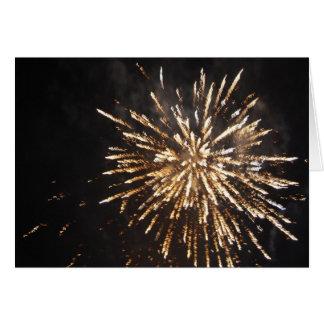 Cartão Exposição dos fogos-de-artifício
