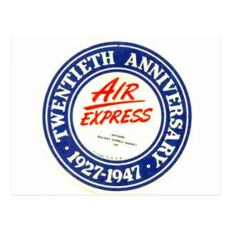 Cartão expressos do aniversário do ar 20os