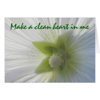 Cartão Faça um coração limpo em mim