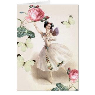 Cartão Fada da bailarina