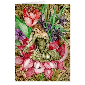 Cartão fada da flor