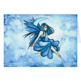 Cartão Fada da lua azul