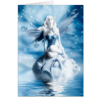 Cartão Fada Notecards da água