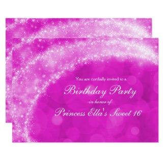 Cartão Faísca cor-de-rosa & branca Cinderella algum