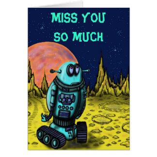 Cartão Falta que só engraçada do robô você carda