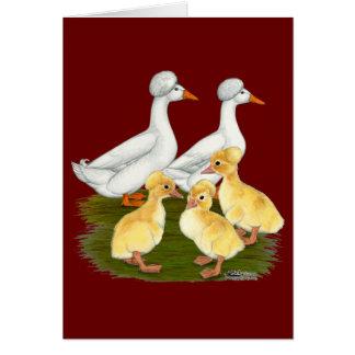 Cartão Família com crista do pato