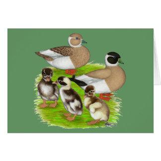 Cartão Família escrita do pato da chamada