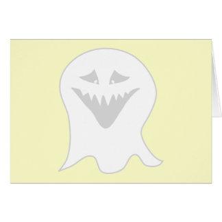 Cartão Fantasma do Ghoul. Cinzas e branco
