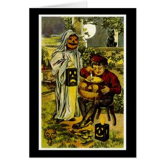 Cartão Fantasma e Jack-o-Lanterna do Dia das Bruxas