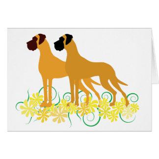 Cartão Fawn Great Dane