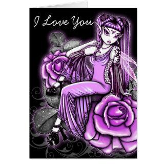 Cartão feericamente de Avery da arte do rosa do ro