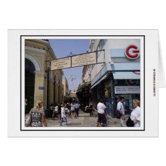 Cartão Feira da ladra de Atenas