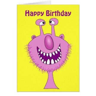 Cartão feito sob encomenda bonito cor-de-rosa de