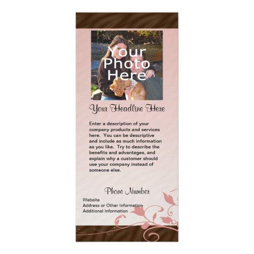 Cartão feito sob encomenda da cremalheira da foto, panfleto informativo personalizado