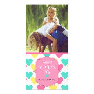 Cartão feito sob encomenda do feliz dia dos cartão com foto