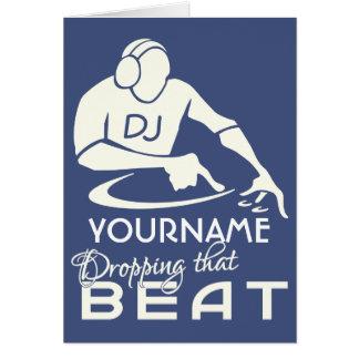 Cartão feito sob encomenda do nome & da cor do DJ