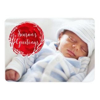 Cartão feito sob encomenda vermelho do feriado da convite 12.7 x 17.78cm