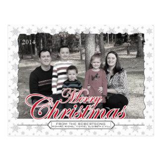 Cartão feitos sob encomenda da foto do floco de cartão postal