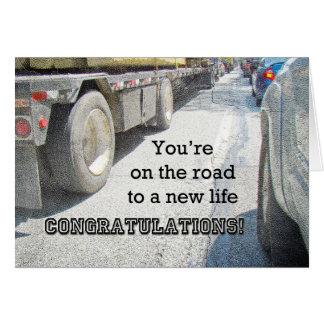 Cartão Felicitações na estrada nova na vida - Turnpike