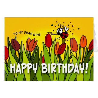 Cartão Feliz aniversario - a minha cara esposa